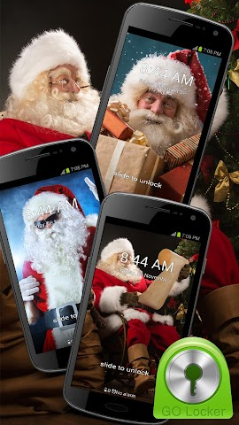 android GO Locker Santa Claus Theme Screenshot 0