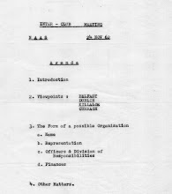 Photo: Agenda for Inter Club Meetingheld in Naas. Nov.'62