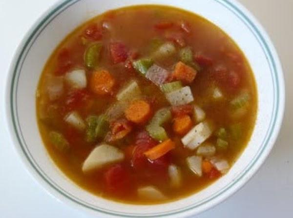 Anita's Dorm Room Vegetable Soup Recipe