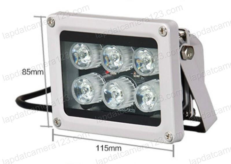 Đèn led hỗ trợ camera nhìn đêm rõ biển số xe