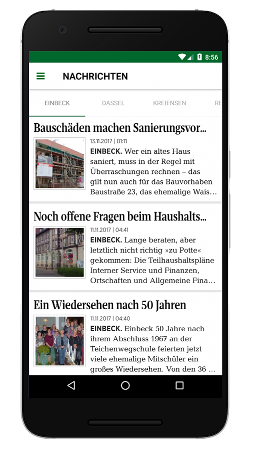 Einbecker Morgenpost - EM Digital- screenshot