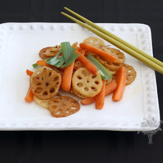 Carrot and Lotus Root Stir Fry