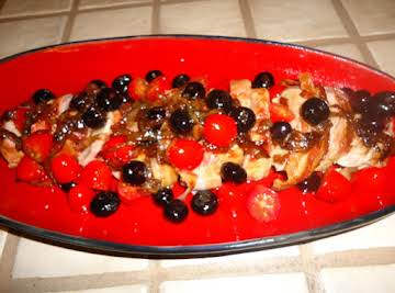 Grilled Pork Tendeloin with Blueberry Sauce