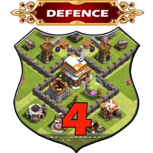 Town Hall 4 Defence Base Layouts