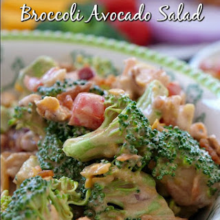 BBQ Bacon Broccoli Avocado Salad.