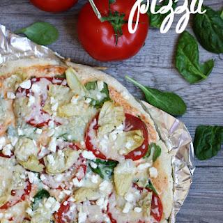 Spinach Artichoke & Tomato Pizza