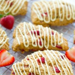 White Chocolate Strawberries 'n' Cream Scones
