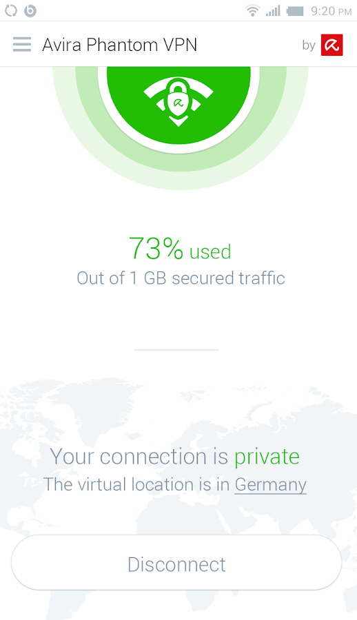 Free VPN - Avira Phantom VPN- screenshot