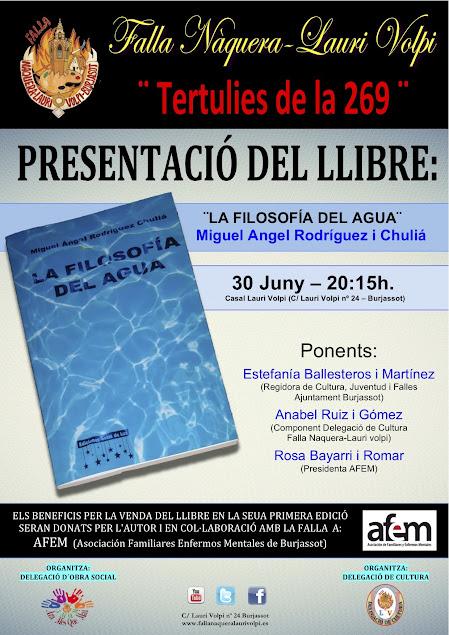 Presentación del Libro: ¨La filosofía del agua¨ en Naquera - Lauri Volpi