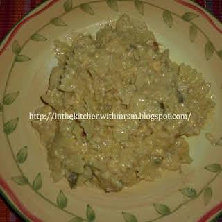 Spicy Crockpot Chicken Pasta & Cheese.