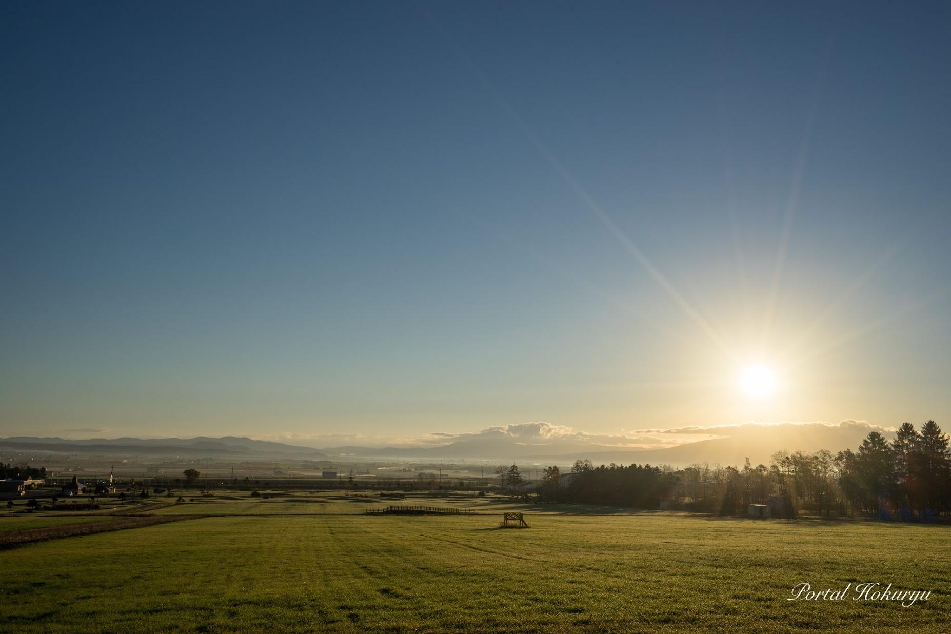 太陽の暖かさを感じる風景