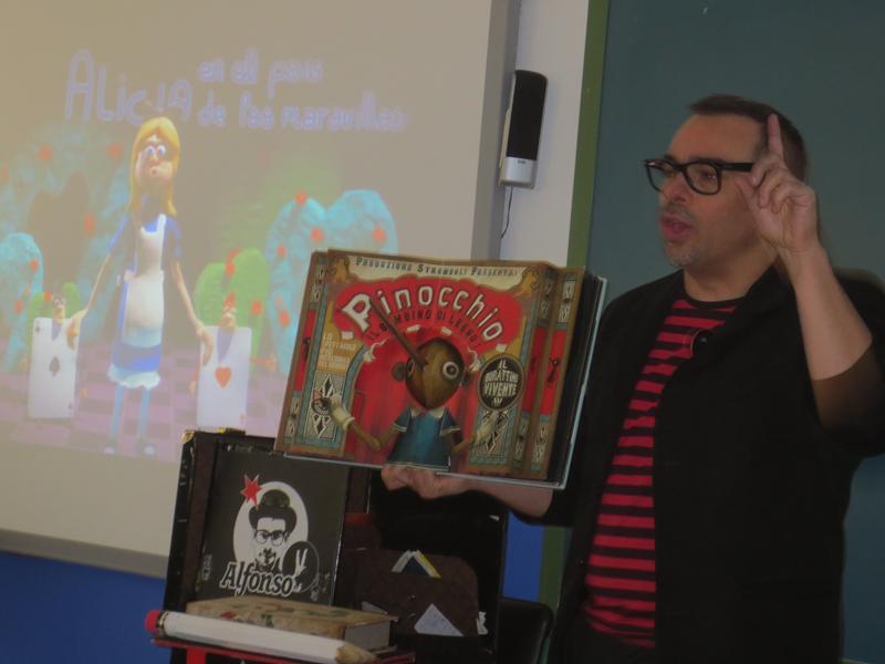 show de magia con dibujos animados y animación a la lectura