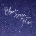 [임샤인] 심플 블루 우주 달 카카오톡 테마 (blue space moon) icon