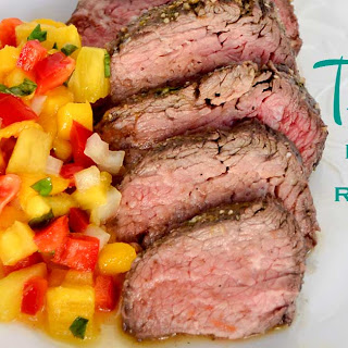 Tri-tip with Pineapple Mango Red Pepper Salsa