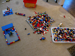 Photo: A Building Area with some creations underway.