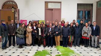 Foto de familia tras la asamblea del Colegio de Secretarios, Interventores y Tesoreros de Almería.