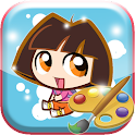 Coloring Dora, la exploradora icon