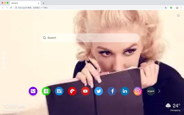 Gwen Stefani HD Wallpaper New Tab