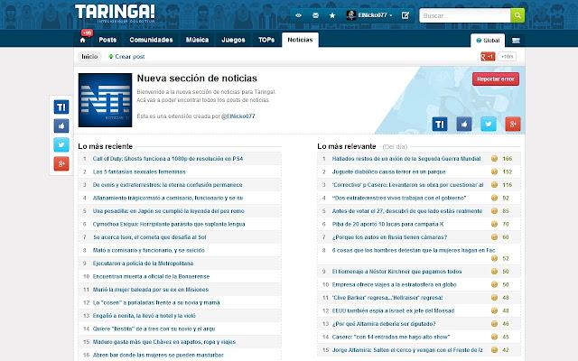 Noticias Taringa!