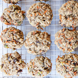 Carrot, Cardamom and Pistachio Breakfast Cookies.