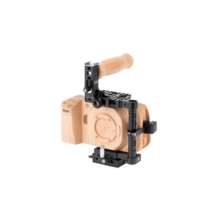 Unified BMPCC4K/6K Camera Cage (Wood Grip) for BMPCC 4K/6K