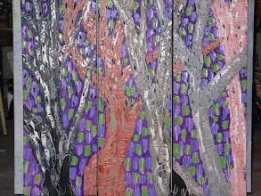 Photo: Morning Rain Falls Creek Oil Triptych 90cmx90cm $300