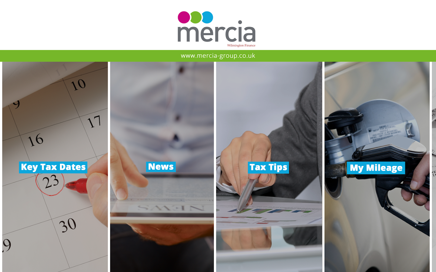Mercia TaxApp- screenshot