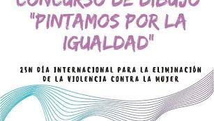 Cartel del Concurso de Dibujo Pintamos por la Igualdad.
