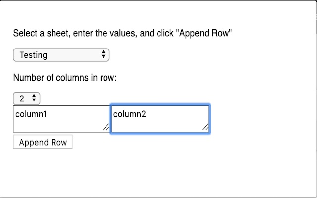 Add row to Google Sheets