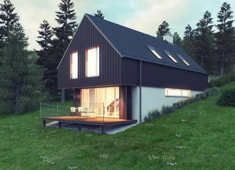 Projekt domu W Krajobrazie