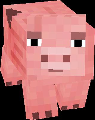 128X128 Minecraft Pig