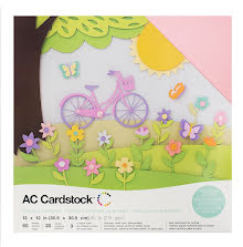 American Crafts Textured Cardstock Pack 12X12 60/Pkg - Spring