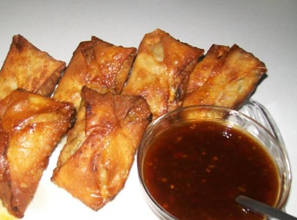 Chicken And Slaw In Egg Rolls Recipe