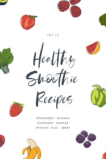 Fruity & Healthy Smoothies - Pinterest Pin Template