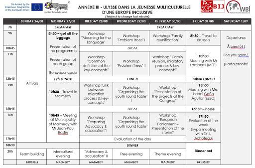 "Programme ""Ulysse dans la Jeunesse Multiculturelle d'une Europe Inclusive"""