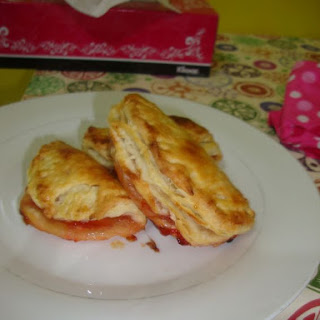Strawberry Turnovers (Puff Pastry dough).