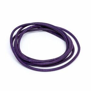 Läderrem mörk lila 1 m 1,3 mm tjock
