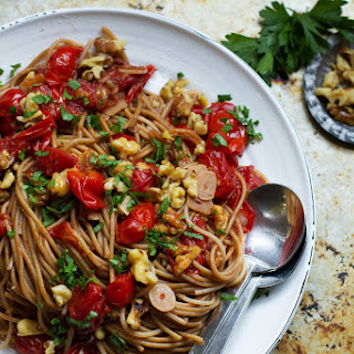 Burst Tomato Pasta with Charred Walnuts