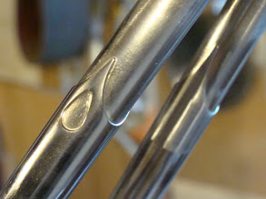Photo: More teardrops on the sleeved seatstays.