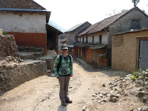 Photo: Emily arriving Pati Bhanjyang (1770m)