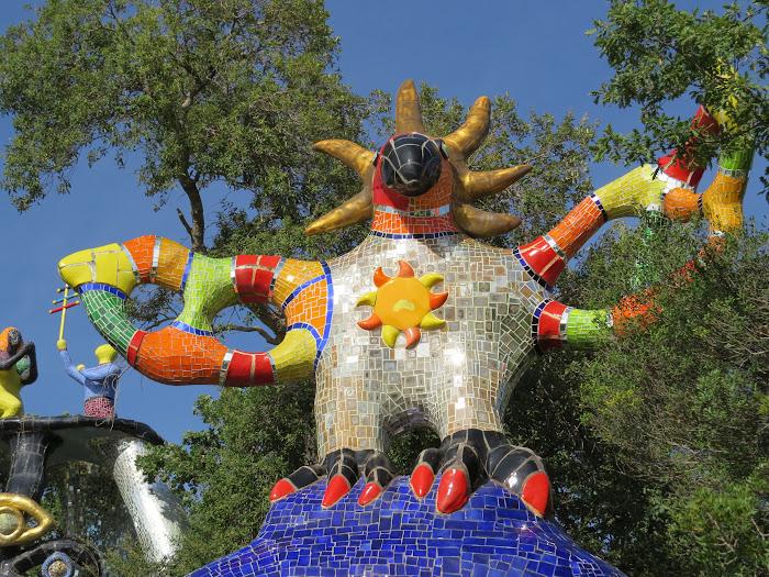 Niki de Saint Phalle, Il Sole (particolare), Giardino dei Tarocchi, Capalbio