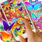 Neon Butterflies Wallpaper Icon