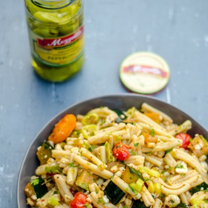 Mediterranean Style Pasta Salad with Summer Grilled Vegetables Recipe