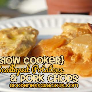 Crockpot Scalloped Potato Pork Chops.