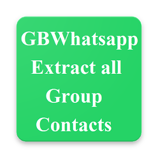 ?GBWhatsapp extract all group contacts - náhled
