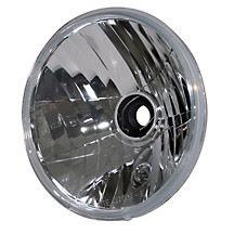 7-tum H4 symmetrisk reflektor, klart glas