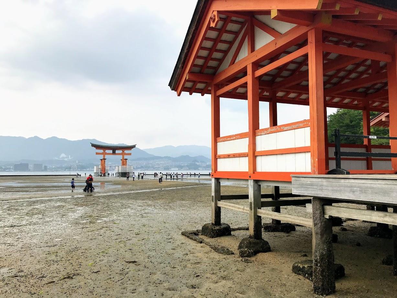 厳島神社 干潟