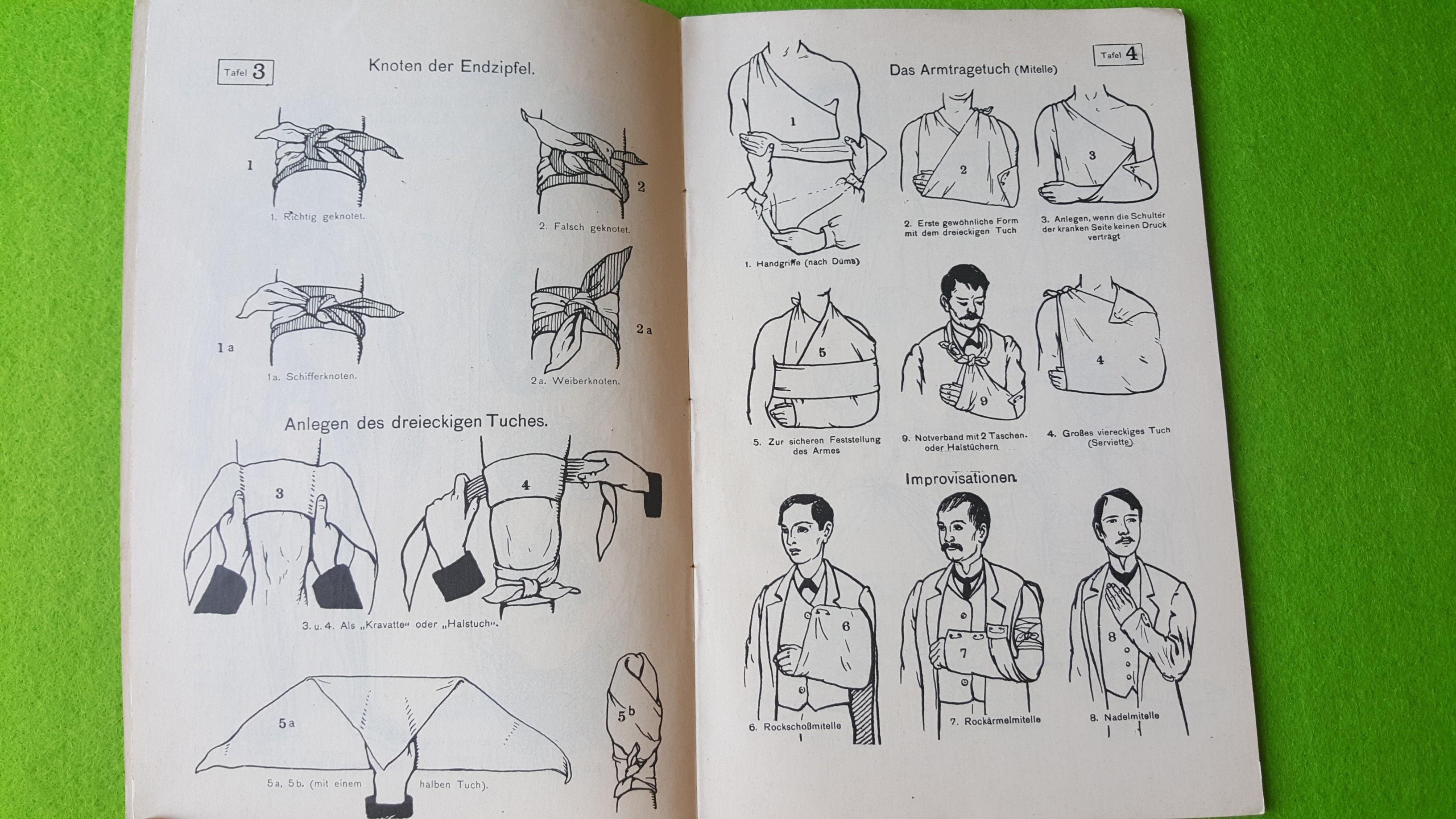 Erste Hilfe bei Unglücksfällen – Der Samariter – 1914 - II. Der Bildteil