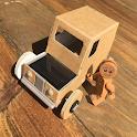 Miniature Car Design From Cardboard icon