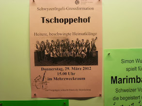 Photo: Hausreklame für unser Konzert